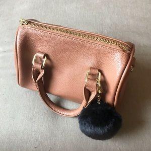 Charming Charlie Vegan Mini Bag with Pom Pom